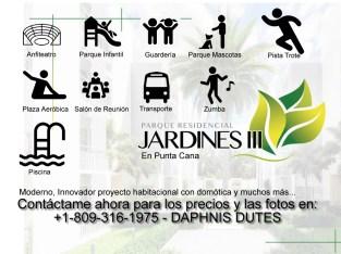 JARDINES III: Invest in Condominio Punta Cana