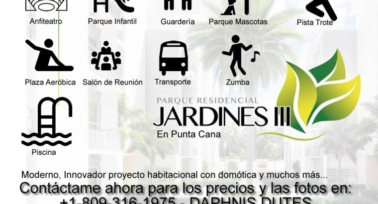 Residencial JARDINES 3 apartamentos de 1 hab