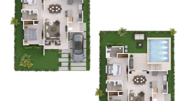 Primaveral Residences II: Proyecto de casas de 3 Habs en Bavaro