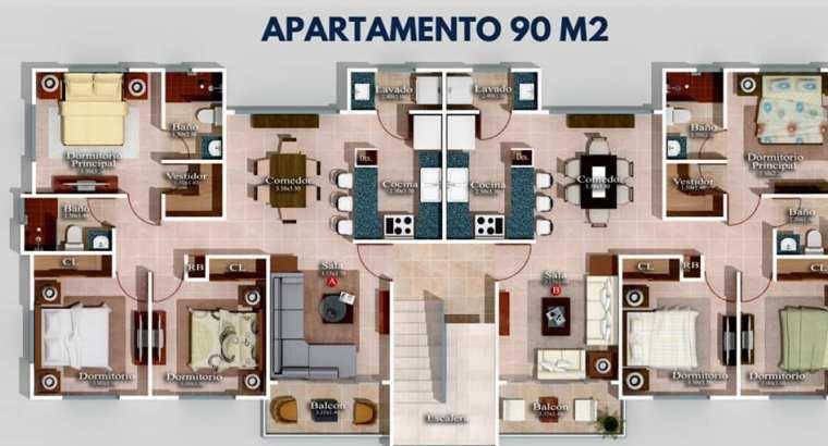 apartamentos en construcción en brisas del norte próximo a la república de Colombia