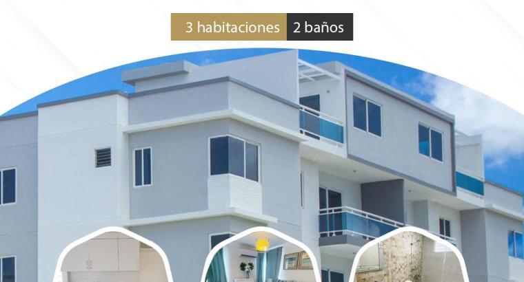 Apartamento PARA INVERTIR en etapa 1,2,3,4,5,6,7,8,9,10 en las Cayenas en Autopista San Isidro