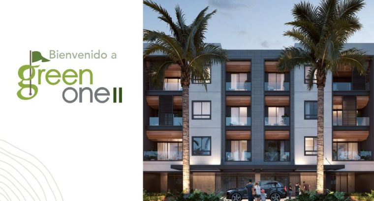 1,2,3 ROOMS Apartments for sale GREEN ONE 2 in Punta Cana Village