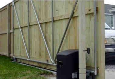 Automatic Rolling Wood Gate