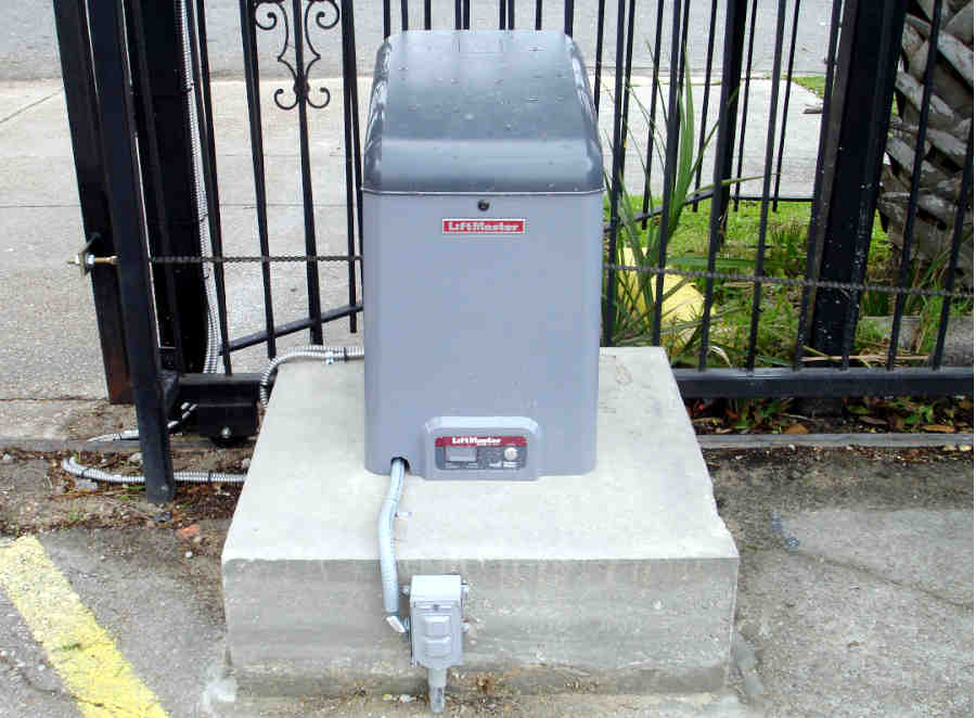 Iron Roll Gate in New Orleans. Powered by Lift Master.