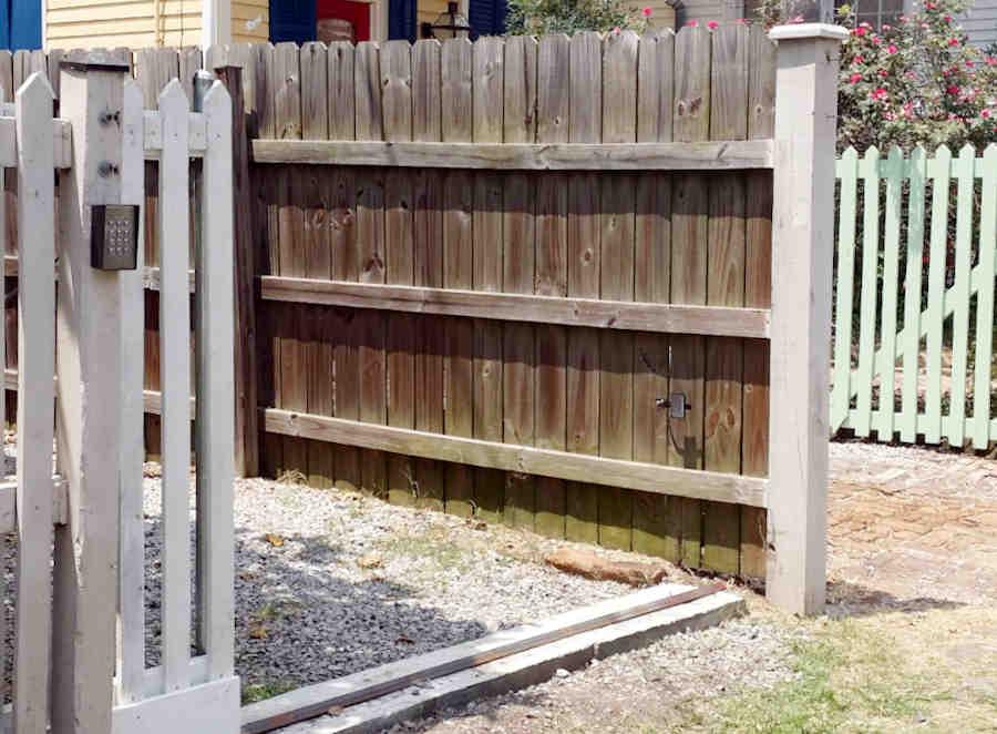 Picket Access Gate with Keypad Near Audubon Park.