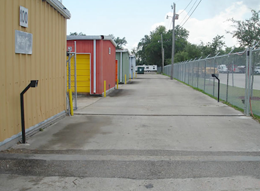 Sliding Chain Link Fence at a Storage Facility in Kenner.