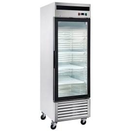 Refrigerador industrial inox 1 pta vidrio
