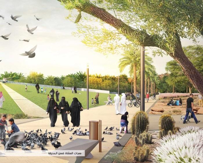 Rendering of the planned King Salman Park in Riyadh, Saudi Arabia (Arriyadh Development Authority)