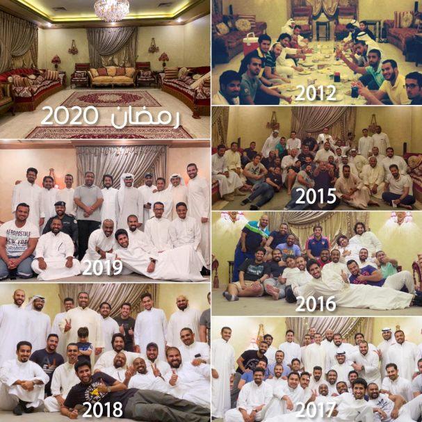 Abdulrahman's annual Ramadan iftar at his diwaniya, Kuwait, May 1. (Photo by Abdulrahman al-Bedah)