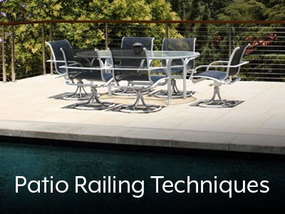 Top 9 Techniques To Enhance A Patio Railing Agsstainless Com   Railing For Concrete Patio   Wood   Vinyl   Custom   Rectangle Concrete   Deck