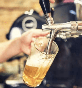 Cerveza artesana de barril Agualuna Fuenlabrada