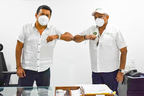 FIRMAMOS CONVENIO DEL ALCANTARILLADO FASE II DE LA CABECERA DE VILLA- SAN BENITO ABAD.