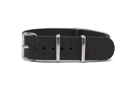 18mm black nylon watch strap