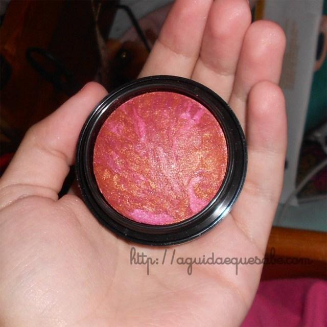 o boticário make b infinit maquilhagem sombras baked swatch review blush kaleidoscope