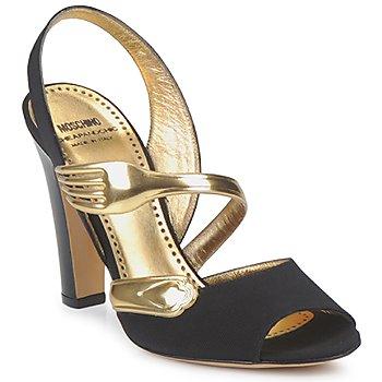 moschino sandálias spartoo garfo sapatos moda