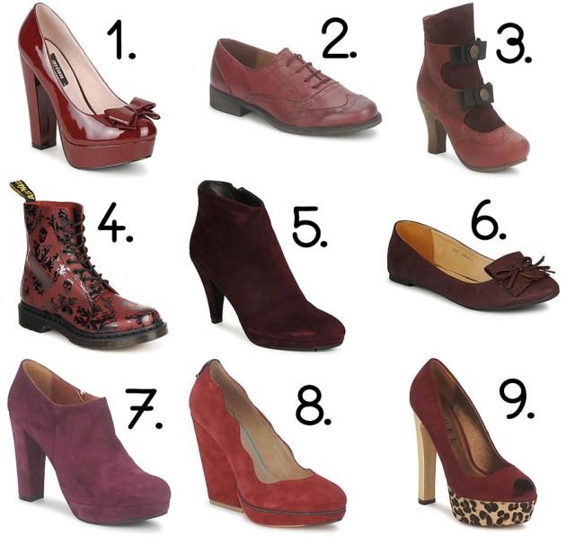 moda sapatos calçado burgundy spartoo cor de vinho bordeaux salto alto botas sabrinas