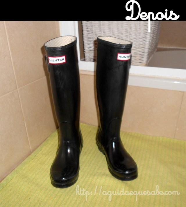 galochas botas hunter manchas esbranquiçadas borracha como tratar limpar cuidar remover