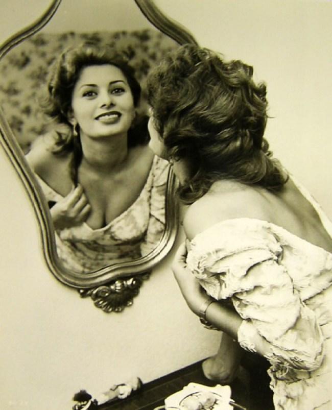 sophia loren beleza vintage maquilhagem