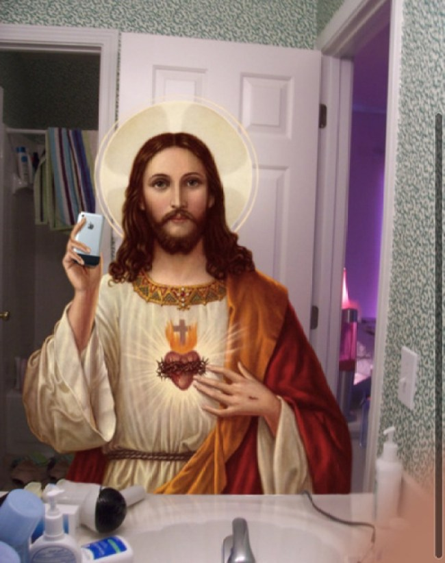 natal pai natal solidário presentes jesus selfie