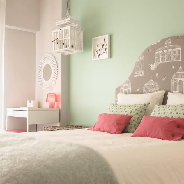 """Imagem recolhida do site Homify. Projecto """"Quarto Natura"""", Muda Home Design."""