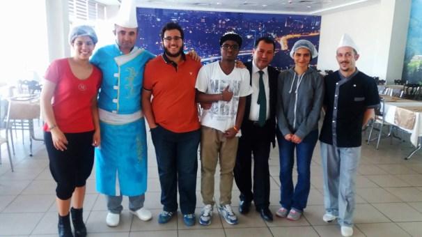 AGU, Students, Morocco, cook, food, kitchen, Kalbim Restaurant, Kayseri