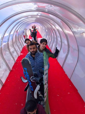 Ski, Tunnel, Magic Carpet, Erciyes, Resort, AGU, International Students
