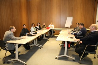 Abdullah Gül University, faculty, members, group, discussion, Internationalisation Strategy meeting