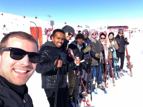 AGU, International, Students, Ski, Selfie, Erciyes