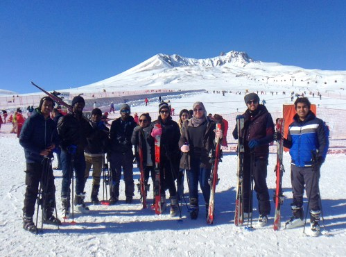 AGU, students, international, trip, Erciyes, off-campus activities