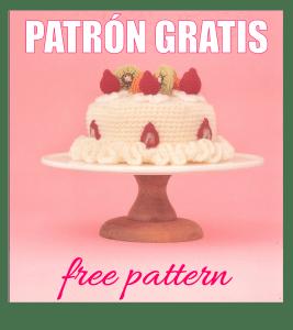 crochet amigurumi patron gratis tarta