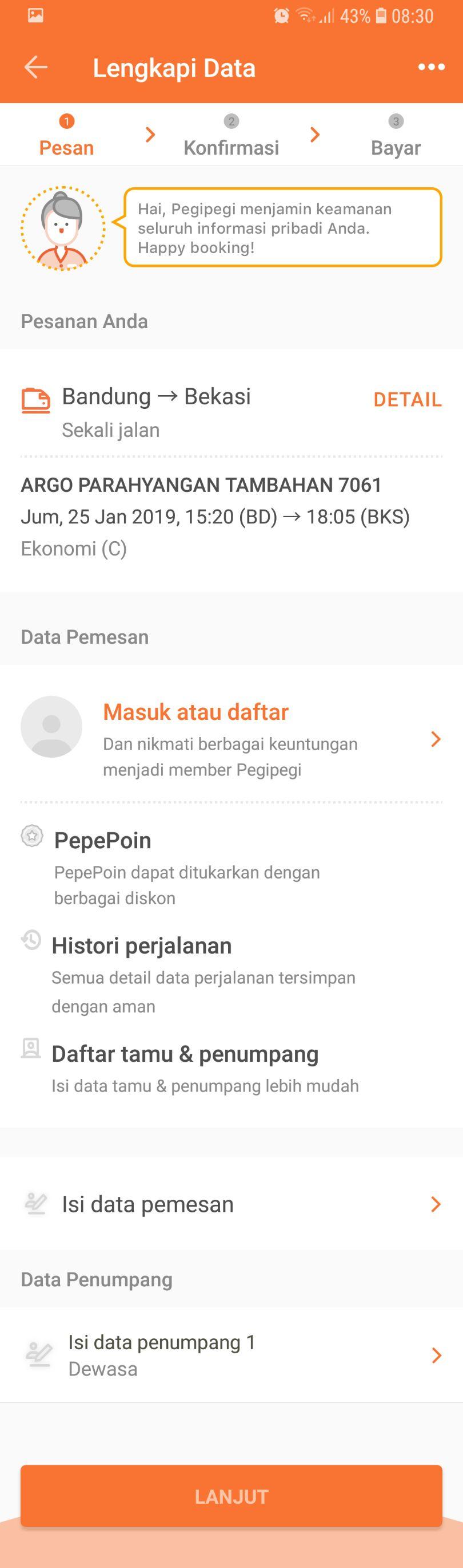 4 - Isi dan lengkapi data pemesan serta data penumpang
