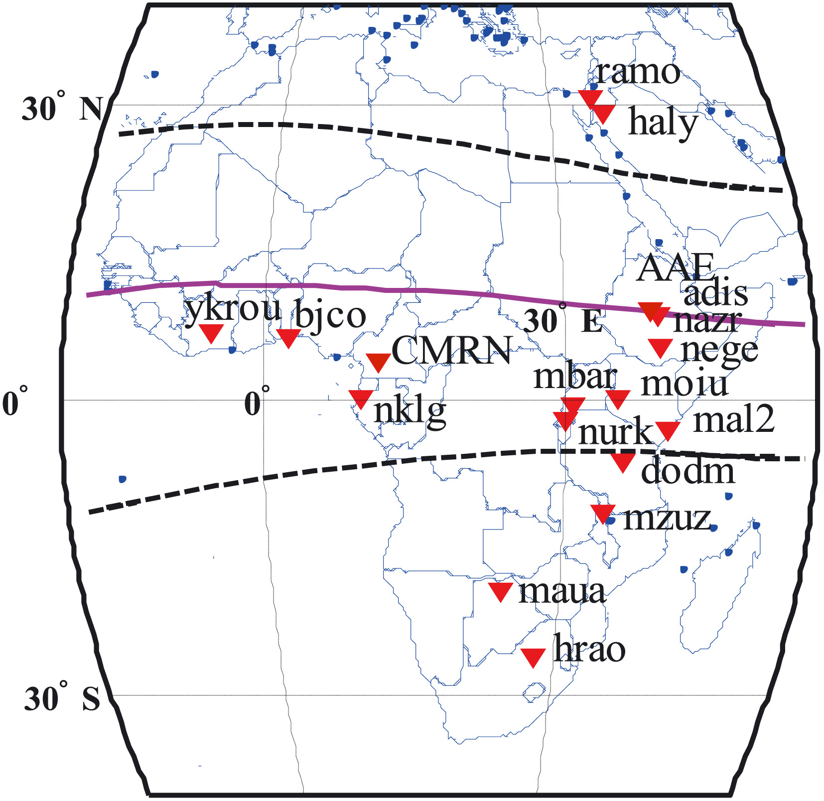 The Response Of African Equatorial Low Latitude Ionosphere