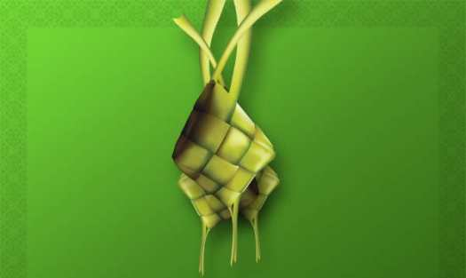 Gambar ketupat Lebaran Idul Fitri // Sebuah simbol pengakuan kesalahan dan saling memaafkan antar warga.