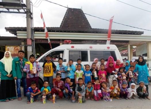 Program Kesehatan Mahasiswa KKNT UNHASY untuk Warga Desa Asemgede Bekerjasama Dengan Yatim Mandiri