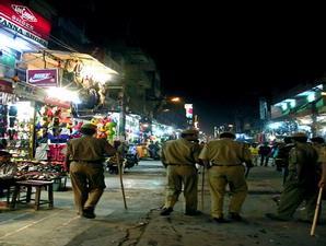Pengamanan di Paharganj diperketat pasca ledakan.