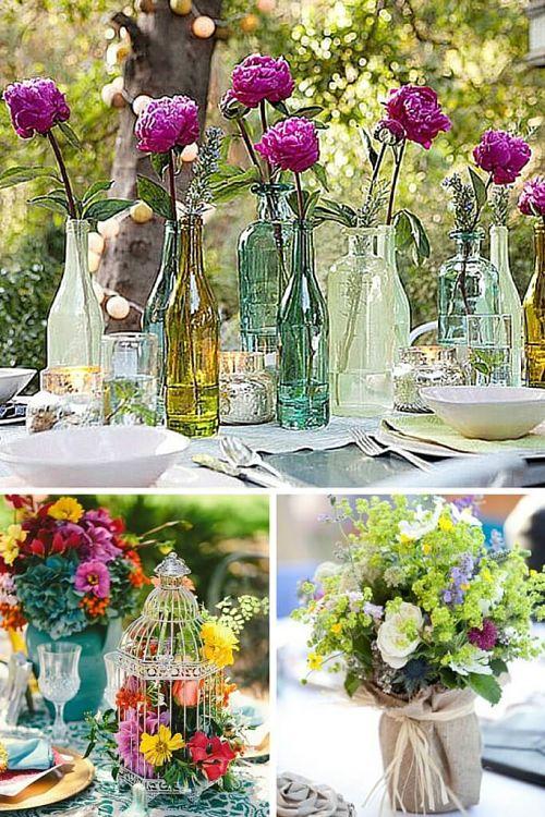 Las 5 claves del estilo campestre para decorar mesas de verano - Centros para decorar mesas ...