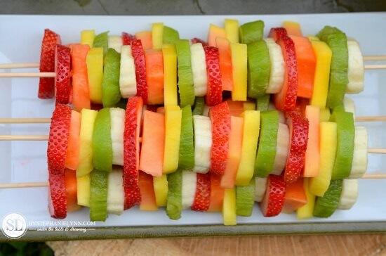 macedonias de frutas