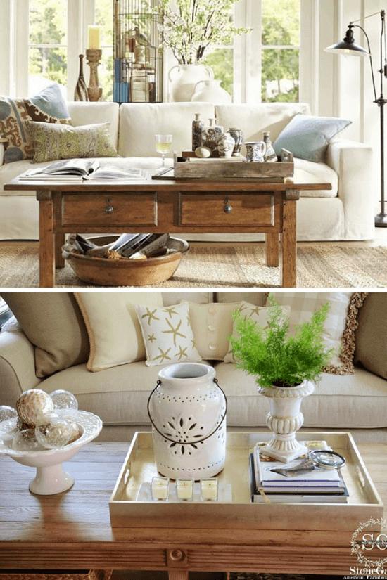 4 trucos para decorar mesas de centro con estilo a gusto - Centros para decorar mesas ...