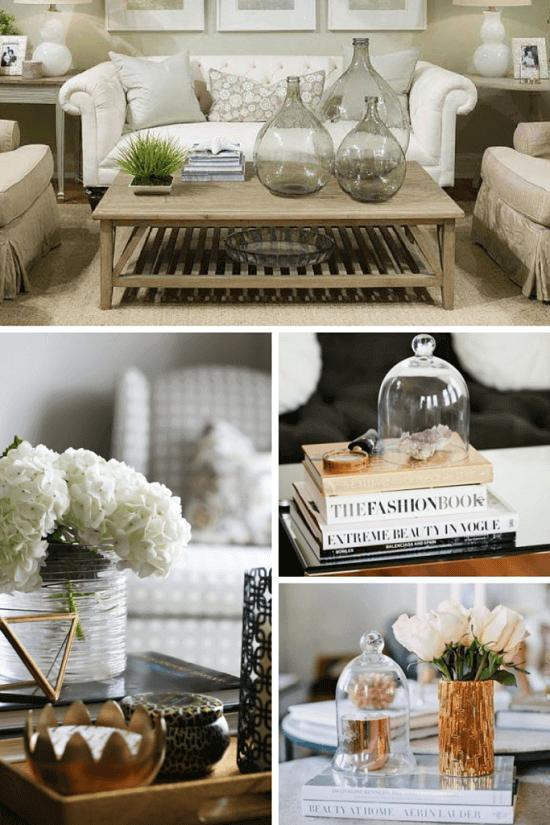 decorar mesas de centro