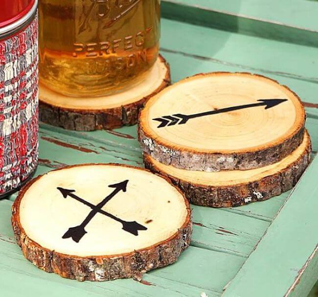 rodajas de madera