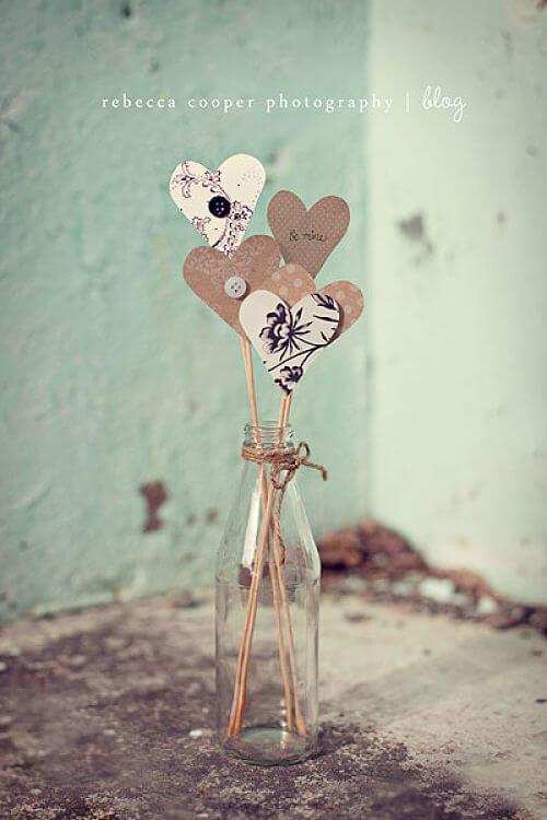 corazones de cartón