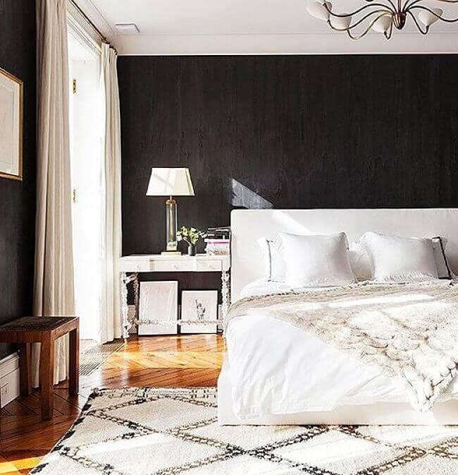 decorar en negro dormitorio