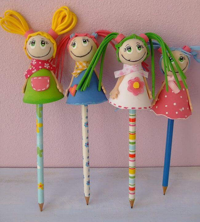 fofuchas pencil toppers
