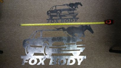 Mustang Fox Body Metal Art - by Julie Stitt