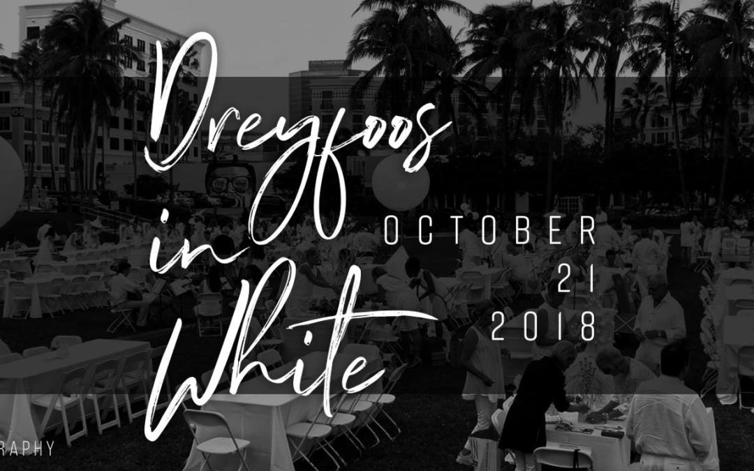 Sunday is Dreyfoos in White  – get tickets today!