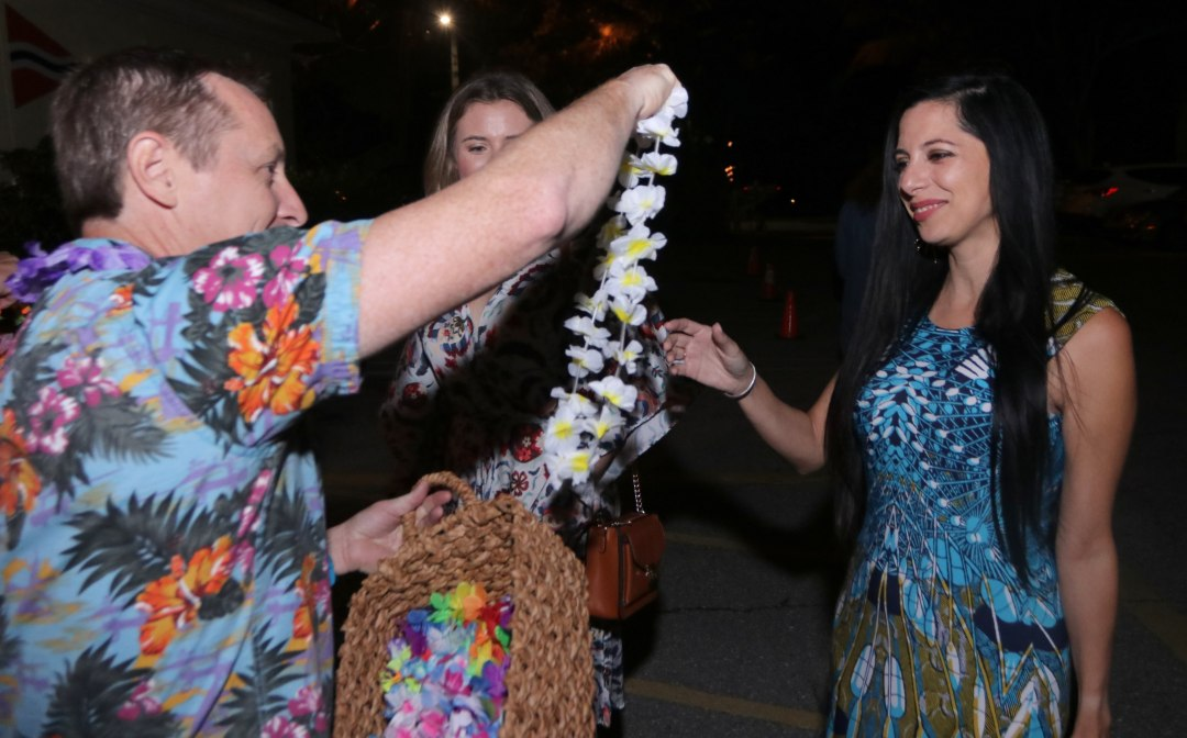 Everyone gets a Lei - Photo by Mike Jachles