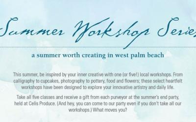 Be Inspired at upcoming Artsy Summer Workshops