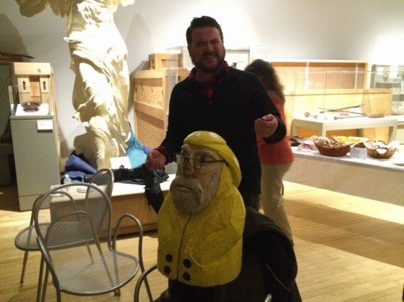 Captain Ahab of Ahab's Adventures at the Pecka Kucha Talks in Pittsfield Massachusetts 2016