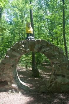 Captain Ahab of Ahab's Adventures at the Celtic Eye at Columcille Megalith Park in Pennsylvania 2015