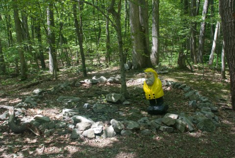 Captain Ahab of Ahab's Adventures at the Sacred Women's Site at Columcille Megalith Park in Pennsylvania 2015